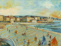 Quadro di Emanuele Cappello  Terrazza Mascagni a Livorno