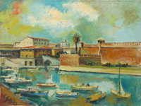 Work of Emanuele Cappello - Fortezza Vecchia a Livorno oil canvas