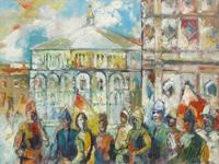 Quadro di Emanuele Cappello  Corteo del Calcio Storico fiorentino