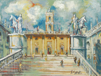 Work of Emanuele Cappello - Campidoglio a Roma oil canvas