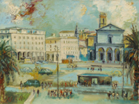 Work of Emanuele Cappello - Duomo di Livorno oil canvas