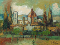Quadro di Emanuele Cappello  Firenze dal Piazzale