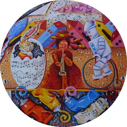 Art work by Francesco Sammicheli Musica e colori - oil canvas