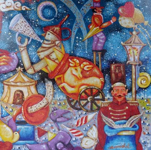 Quadro di Francesco Sammicheli Ariete - olio tavola