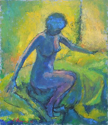 Quadro di F. Bendoni Nudo - Pittori contemporanei galleria Firenze Art