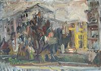 Quadro di Sirio Salimbeni  Paesaggio