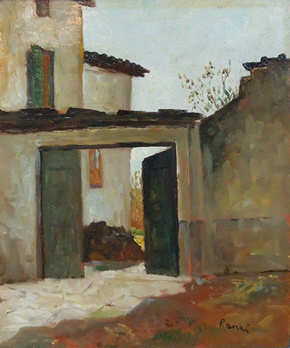 Art work by  Renai Cortile - oil hardboard