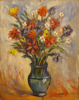 Quadro di Dino Migliorini  Vaso di fiori di campo