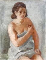 Quadro di Franco Dani  Modella in posa