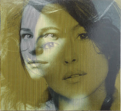 Quadro di Malipiero  ( Piero Maffessoli)  Osmosi - Charlotte Rampling e Monica Bellucci - collage carta