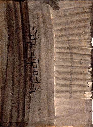 Quadro di  Lorenzi Astratto - olio carta