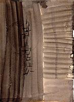 Quadro di  Lorenzi - Astratto olio carta