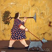 Quadro di Lisandro Rota - Il cane della via Gluk grafica carta