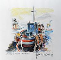 Quadro di Francesco Dotti  S. Teresa di Gallura - pescherecci