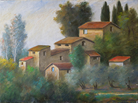 Quadro di Nino Tirinnanzi  Paesaggio