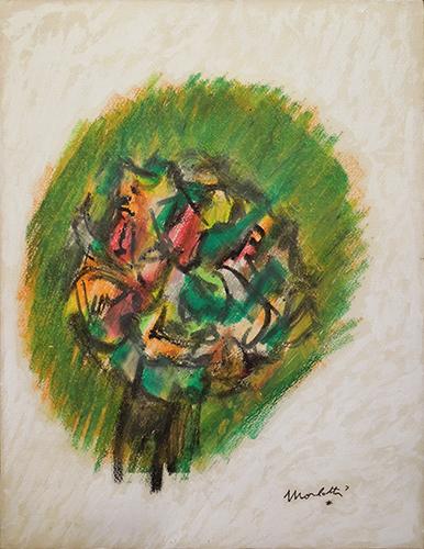 Quadro di Ennio Morlotti Fiori - mista tela