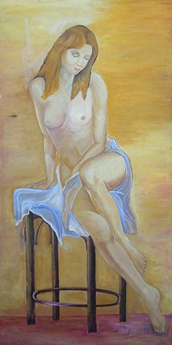 Art work by Pierluigi Di Paco Modella in posa - oil table