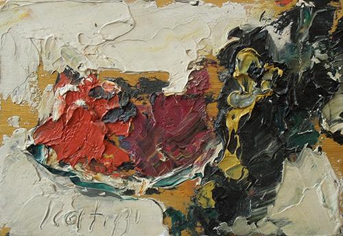 Quadro di Sergio Scatizzi Composizione di frutta  - olio tavola