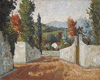 Quadro di Renzo Paoletti  Paesaggio presso Firenze