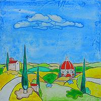 Work of Luca Albizi - Paesaggio toscano mixed table