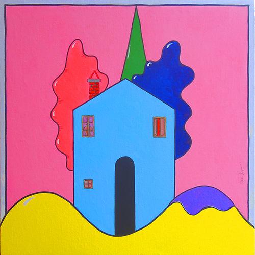 Quadro di Luca Albizi Colline - olio tela