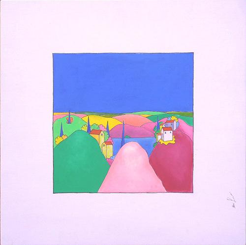 Quadro di Luca Albizi Paesaggio - olio tela