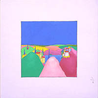 Quadro di Luca Albizi - Paesaggio olio tela