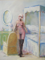 Quadro di Umberto Bianchini - Interno olio tela