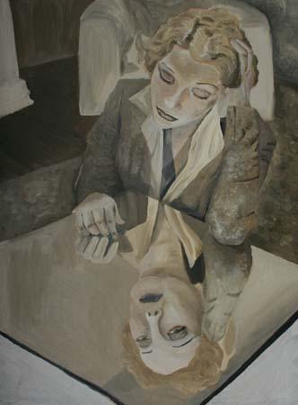 Quadro di giulia melillo donna allo specchio - Quadri a specchio moderni ...