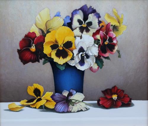 Quadro di a biglar fiori primaverili - Fiori primaverili ...