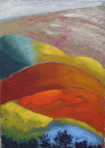 Gabriele  Pampaloni  - Camminando sulla collina toscana